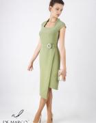 Nowoczesna sukienka dla bizneswoman w delegację De Marco...