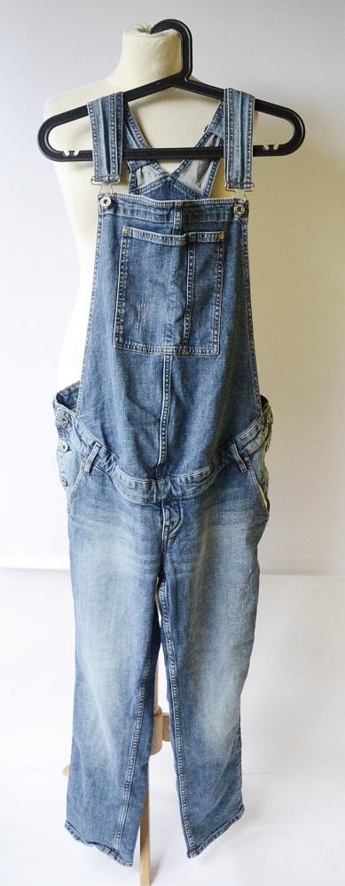 Ogrodniczki Jeansowe H&M Mama 46 3XL Ciążowe Ciążą Dzinsowe