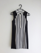 H&M dopasowana sukienka w paski S jak 34 XS