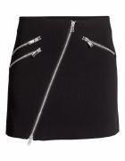 czarna spódniczka spódnica H&M xxs 32 zip zamek ukośny zamki...