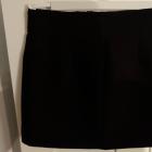 czarna spódniczka spódnica H&M xxs 32 zip zamek ukośny zamki
