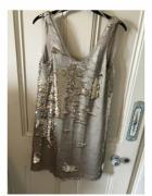 Zara złota cekinowa sukienka rozmiar S M...