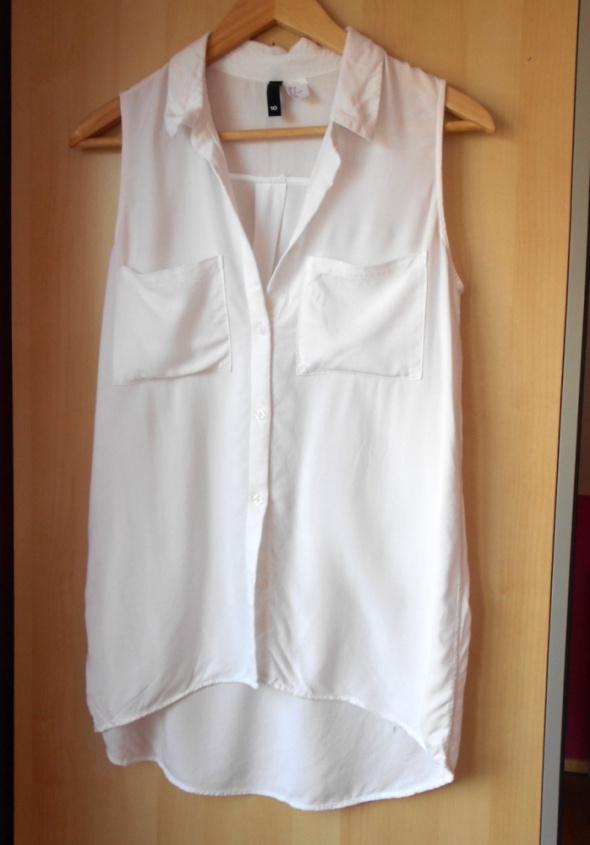 HM biała bluzka koszula kieszenie