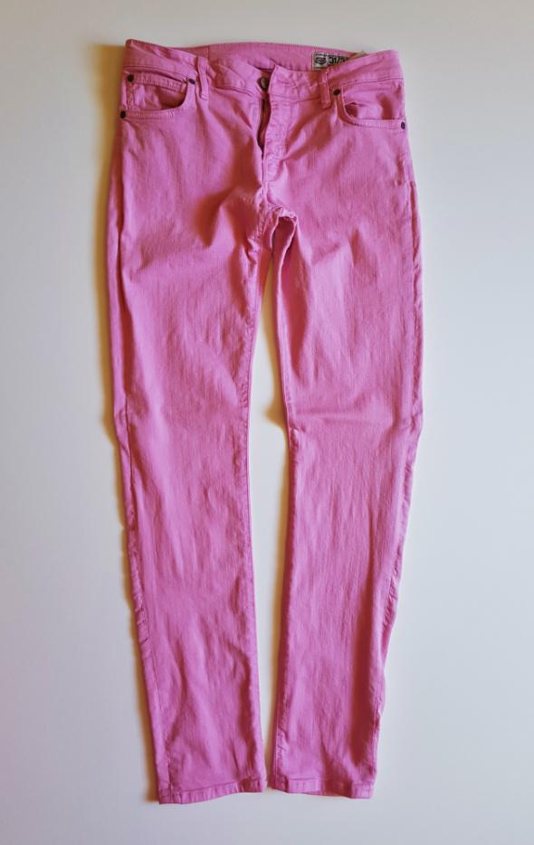 CROCKER Jeansy skinny różowe elastyczne 31 32