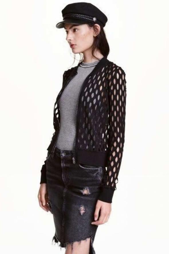 czarny sweter cardigan H&M xs 34 bluzka kurtka plaża koszulka t...