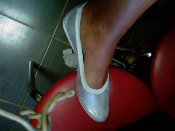 Srebrne lsniace baleriny 36 37 SKORA nowe