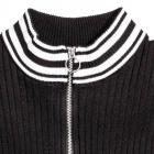 top bluzka czarna H&M xs 34 zip zamek biały sweter