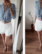 Medicine koszula 100 bawełna prążek biało błękitna cienka...
