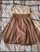 Sukienka bez ramiączek...