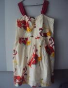 sukienka w kolorowe flamingi...