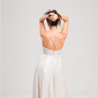 Srebrna sukienka maxi butik wesele ślub studniówka