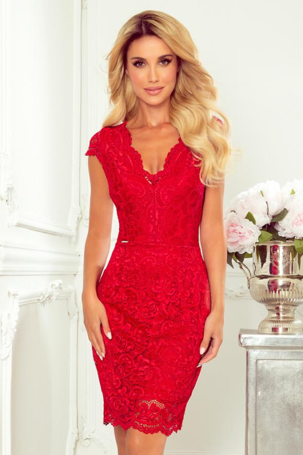 Czerwona koronkowa sukienka S M L XL dwa kolory...