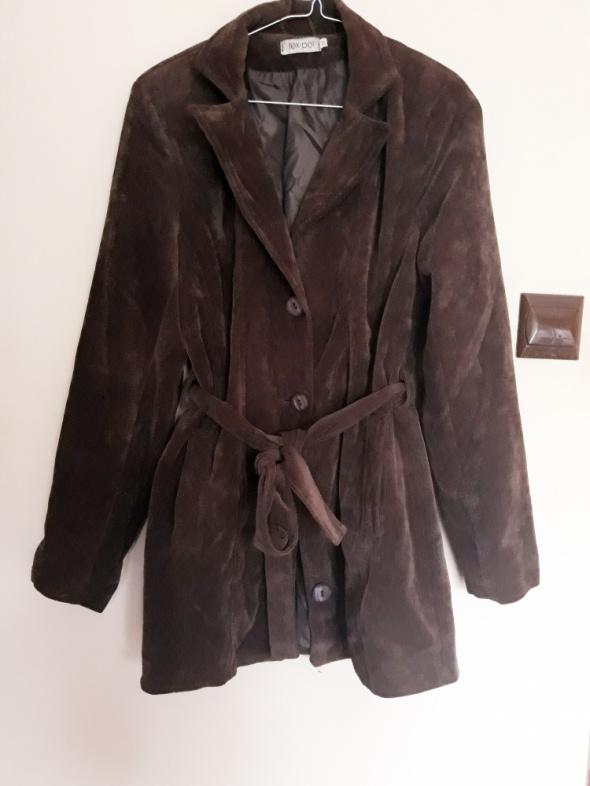 Płaszcz brązowy wiosenno jesienny Tex pol...