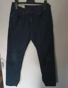 Granatowe spodnie Hollister...