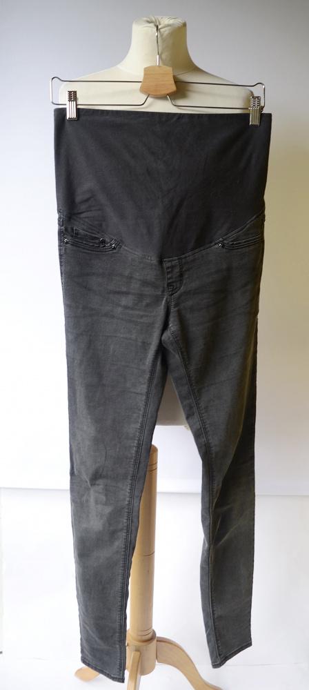 Spodnie Tregginsy Szare H&M Mama M 38 Super Skinny Szarość...