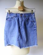 Spódniczka Dzinsowa New Look 34 XS Postrzępiona Jeansowa...