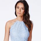 Nowa sukienka Missguided z koronką XS S rozkloszowana odkryte plecy wesele sylwester studniówka