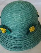 Niebieski słomkowy kapelusz rozmiar 54 nowy