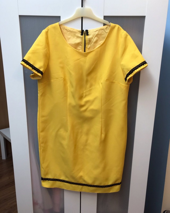 Żółta sukienka damska XXL