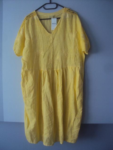 nowa włoska lniana sukienka...
