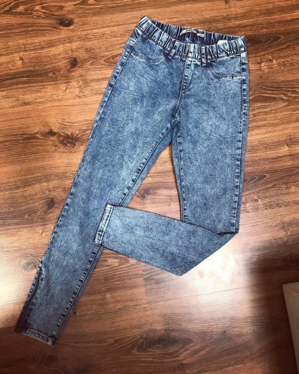 Spodnie damskie jeans tregginsy 36