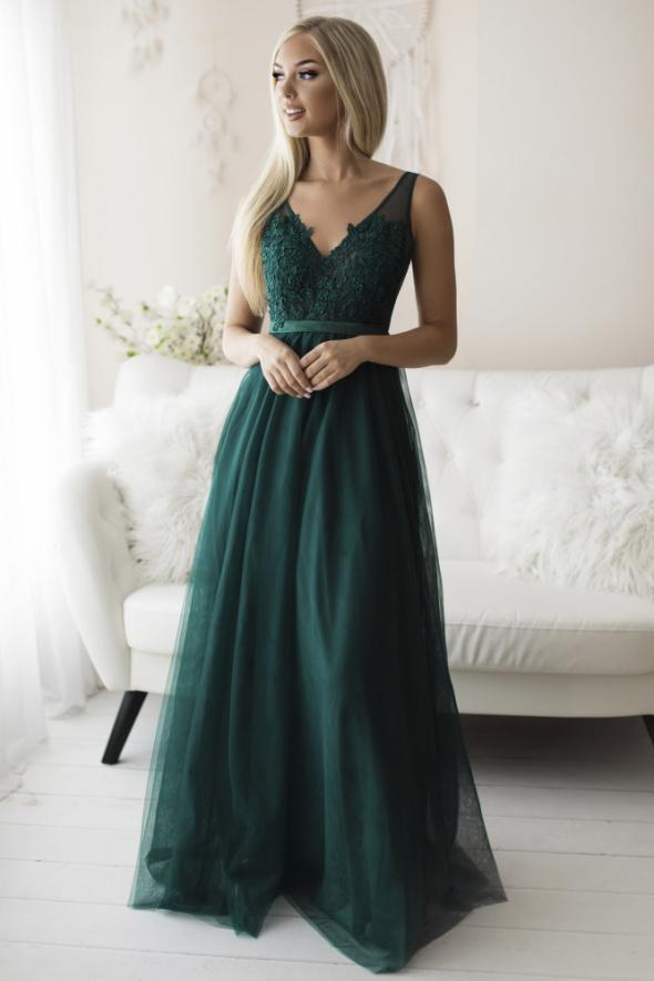 Piękna tiulowa suknia maxi kolory S M L...