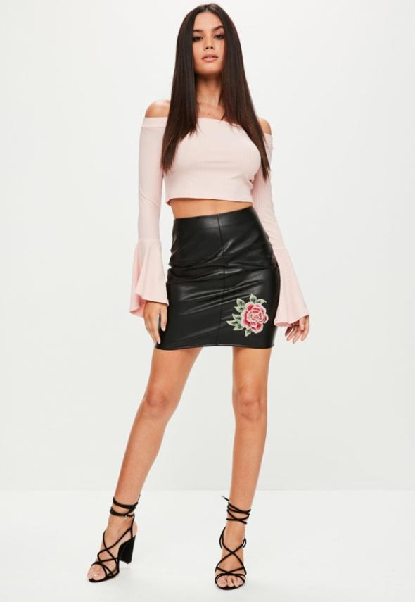 Spódniczka z haftowaną Różą rozmiar XS na S