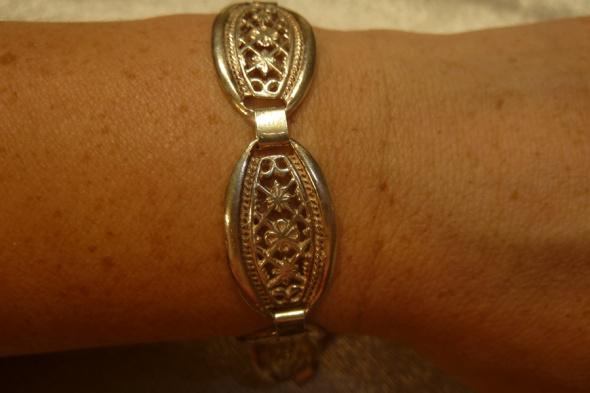 Ażurowa bransoleta srebrna