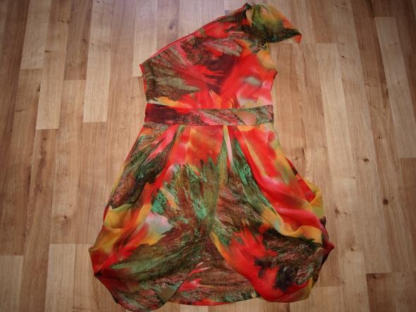 Kolorowa sukienka S M...