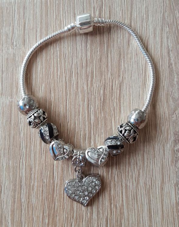 Bransoletki Nowa bransoletka modułowa koraliki beads charms srebrny i czarny kolor