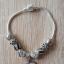 Nowa bransoletka modułowa koraliki beads charms srebrny i czarny kolor