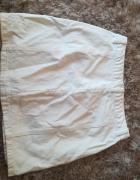 Biała jeansowa trapezowa spódniczka stradivarius...