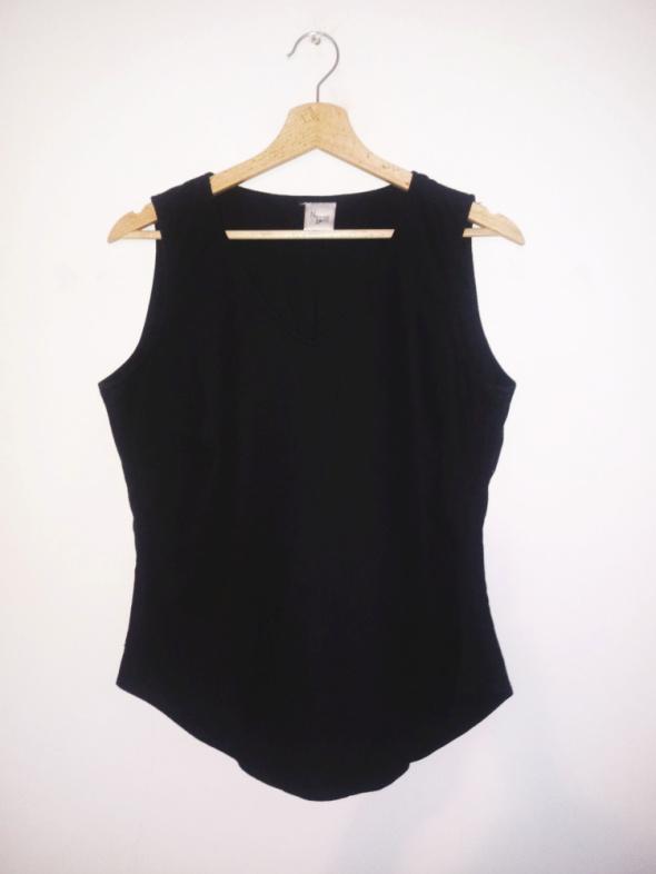 Czarna lniana bluzka bez rękawów gothic basic gorsetowa...