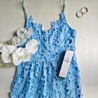 Nowa koronkowa sukienka midi S M na ramiączkach wesele studniówka impreza HIT
