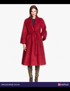 Płaszcz H&M bordowy czerwony alpaka...