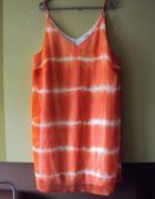 trapezowa cieniowana sukienka...
