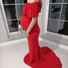 Zjawiskowa suknia do sesji ciążowej brzuszkowej