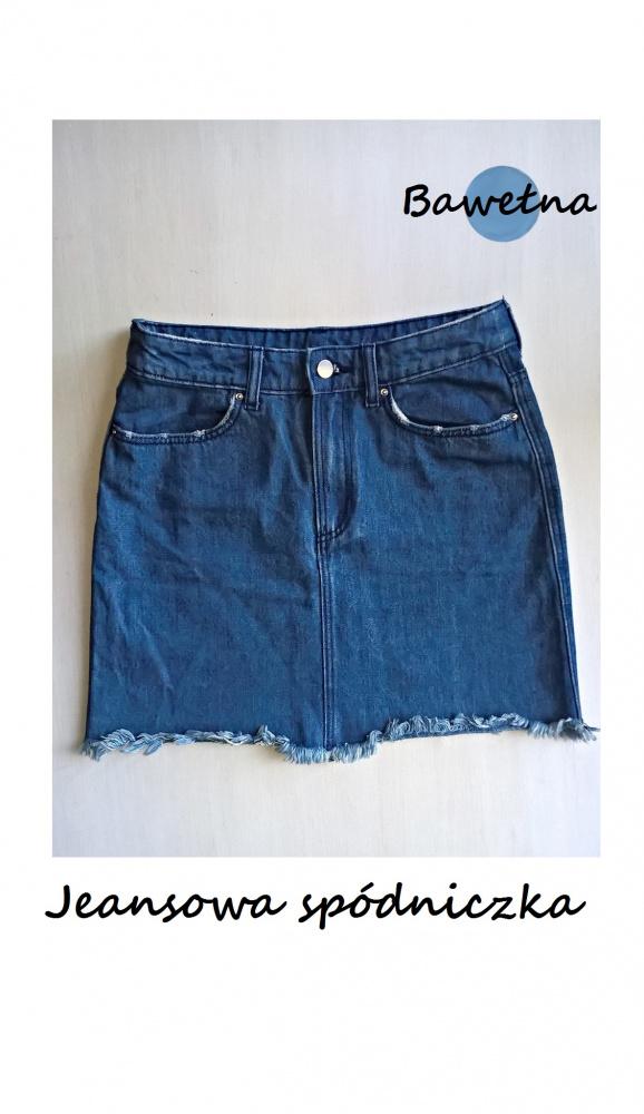 Jeansowa mini spódniczka H&M