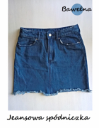 Jeansowa mini spódniczka H&M...