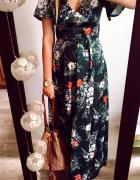 Sukienka Damska w kwiaty zielona C&A rozmiar M...