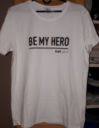 Nowa koszulka Plny Lala Be My Hero White M...