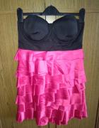 Różowa super sukienka M...