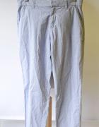 Spodnie 38 Paski Paseczki Niebieskie Męskie Marynarskie Men