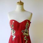 Suknia Sukienka Czerwona Little Mistress S 36 NOWA Długa Cekiny