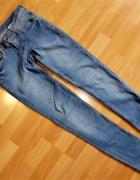 H&M Denim SUPER Skinny LOW spodnie jeans 28 32...