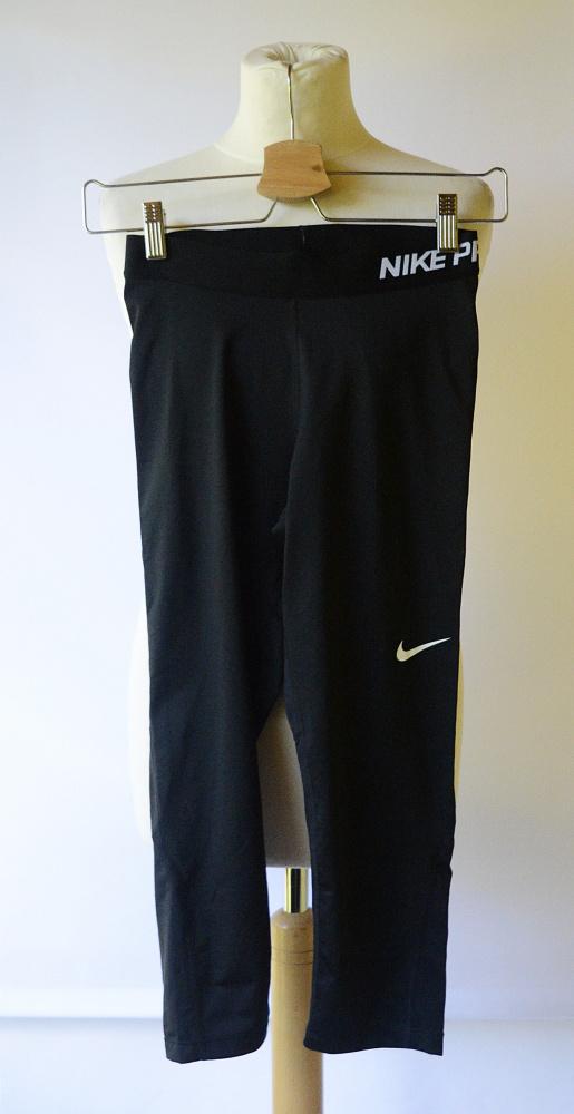 Legginsy Nike Pro Dri Fit Czarne Rybaczki S 36 Sportowe