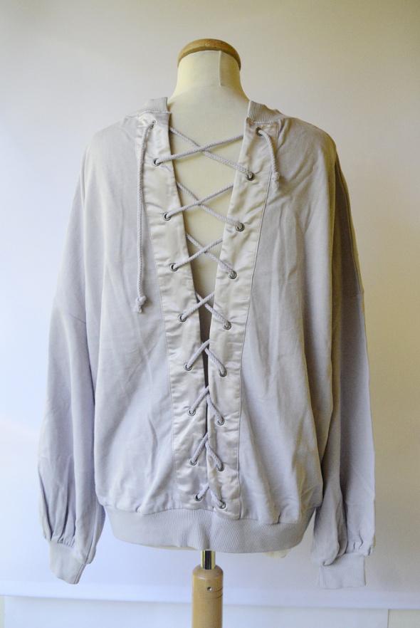 Bluza Lilowa NOWA Asos L 40 Sznurki Wiązania Oversize