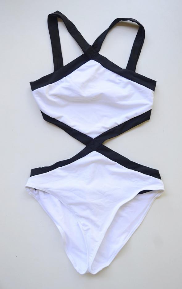 Strój Kostium Kąpielowy Biały Monokini NOWY M 38 Goddiva