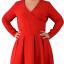 Czerwona kopertowa sukienka r44...