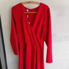Czerwona kopertowa sukienka r44